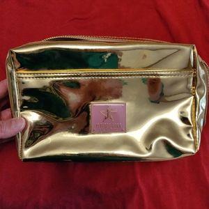 JSC makeup bag gold and pink
